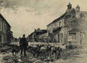 La rue de Barbizon vers 1880ferdinand chaigneau